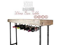Hey, I found this really awesome Etsy listing at https://www.etsy.com/listing/166909454/modern-industry-wine-table-and-rack