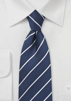 Kravatte marineblau Streifen