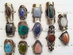 Assorted Semi-Precious Stone Rings. Click the link to purchase our unique handmade Peruvian jewelry at awesome wholesale prices (includes shipping & insurance!)  Make money with your own online or offline business selling Peruvian Jewelry or save big on beautiful gifts for yourself or that special someone! Click here:  http://www.wholesaleperuvianjewelry.com/