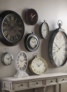 Industrial chic industrial and french style on pinterest - Wanduhr modern weiay ...