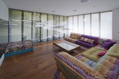 Winning Project - Silent Gliss use their skills in customised digital printing to create a truly personal design scheme for this private residence in Essex. Fun Projects, Window Treatments, Blinds, Digital Prints, Couch, Windows, Bed, Furniture, Printing
