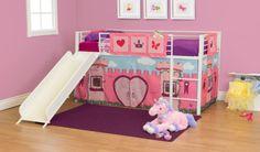 Curtain Set Bunk Twin Loft Bed Princess Fairytale Girls Furniture Kids Toddler