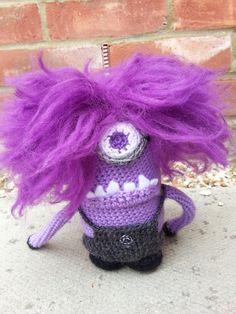 Evil Purple Minion Amigurumi Crochet Pattern by LoopyLousLoops