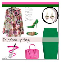 """""""Modern spring"""" by cybelfee ❤ liked on Polyvore featuring Tomas Maier, MCM, Ellis Faas, Fiorangelo, SCHO and modern"""