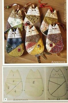 This looks like patchwork key holders but could be adapted for toys for small hands. (Or mug rugs) Felt Crafts, Fabric Crafts, Sewing Crafts, Diy And Crafts, Arts And Crafts, Quilting Projects, Craft Projects, Sewing Projects, Quilting Ideas