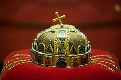 History of Hungary's Holy Crown There is no other nation in the world, who would keep in such a high reverence, have such a high respect for, love with such a mystical adoration their national relic,. Royal Crowns, Heart Of Europe, Crop Circles, Folk Music, Budapest Hungary, Historical Costume, Christmas Bulbs, Homeland, Royals
