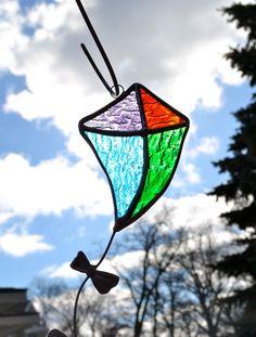 Go Fly a Kite Stained Glass Suncatcher