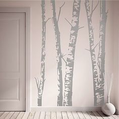 I've just found Silver Birch Trees Vinyl Wall Sticker. Bring the outdoors indoors with this beautiful silver birch wall sticker! Tree Wall Art, Tree Wall Painting, Tree Wall Decor, Tree Wall Murals, Tree Graphic, Vinyl Wall Stickers, Bedroom Wall Stickers, Wall Vinyl, Wall Stickers Christmas