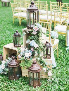 Featured Photographer: Milk & Honey Studio; First Shoot: Allen; Wedding ceremony decor idea.