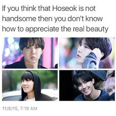 If people can't understand that Hobi is handsome and perfect the way he is then…