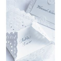 Escort cards- mini envelope, name on outside, table inside