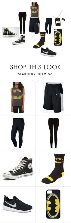 batgirl at the gym by alexalivar on Polyvore featuring NIKE, Current/Elliott, Converse, women's clothing, women's fashion, women, female, woman, misses and juniors