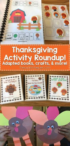 Sarah the Speech Helper is rounding up Thanksgiving activities she's used in speech therapy & sharing them on the blog! Time to get ahead of the game for November!! From theautismhelper.com #theautismhelper