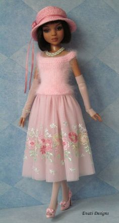 OOAK Pastel Pink Outfit for Ellowyne by *evati* via eBay SOLD 5/19/14  $153.49