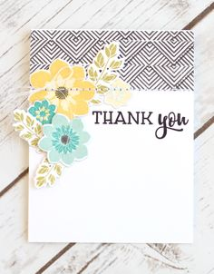 Thank You Card by Stephanie Gold for Papertrey Ink (June 2017)