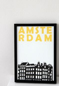 Black 'n yellow Amsterdam print