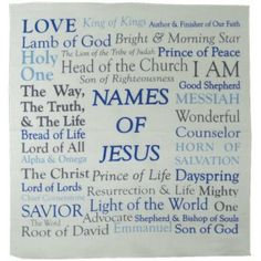 Prayer Cloth - Names of Jesus King Author, Tribe Of Judah, Prince Of Peace, King Of Kings, Its A Wonderful Life, Christian Gifts, Names Of Jesus, Prayers, Faith