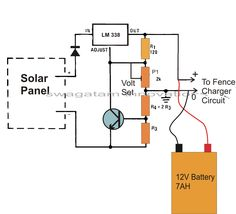 Homemade Circuit Projects: Make this Solar Powered Fence Charger Circuit Solar Electric Fence, Electric Fence Energizer, Electric Circuit, Solar Energy, Solar Power, Renewable Energy, Buy Solar Panels, Solar Battery Charger, Electronic Circuit Projects