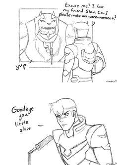 Shiro really doesn't like Slav xD