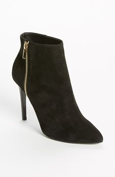 Free shipping and returns on Lanvin Ankle Boot at Nordstrom.com. A gilt zipper adds a touch of couture drama to the swank suede of a point-toe ankle boot set on a skinny heel.
