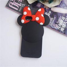 ディズニー &kate spadeミニーiphone7/7plus/SE ケース 可愛い ストラップ付きのアイフォン8/7S/6 携帯カバー シリコン 女の子