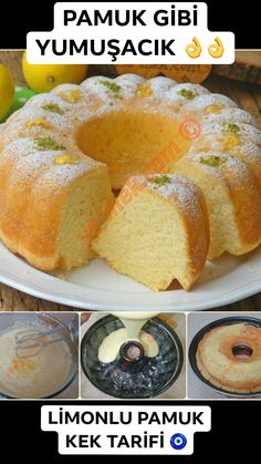 Lemon Cotton Cake Recipe, How To . (A Squishy Cake) - Dessert Recipes Delicious Cake Recipes, Yummy Cakes, Yummy Food, Tasty, Sponge Cake Recipes, Cookie Recipes, Dessert Recipes, Cotton Cake, Best Bakery