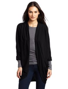 Bobi Women's Flowy Open Cardigan  Black  LargeFrom #Bobi List Price: $75.00Price: $22.15