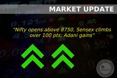 #OpeningBell : #Equity benchmarks as well as broader markets erased more than half of early gains amid consolidation. Oil, FMCG and pharma stocks continued to support the market whereas banks and infra stocks were under pressure ahead of RBI monetary policy. The 30-share #BSE #Sensex was up 65.11 points at 28308.40 and the 50-share #NSE #Nifty up 18.00 points at 8756.10. The BSE #Midcap and Smallcap indices gained 0.2 percent each on positive breadth.