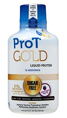 ProT GOLD - Berry Sugar Free Liquid Protein Shot - 16 1oz Anti Aging Liquid Protein Shots. A Clinically Proven Hydrolyzed Collagen Protein used in over 3000 Medical Facilities. Not a Protein GEL