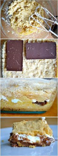Baked S'mores Bars Recipe