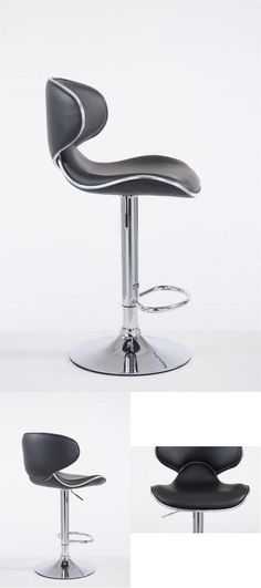 Black Modern Bar Stool Metal Faux Leather Seat Cafe Pub Kitchen Chair Gas Lift for sale online Cool Bar Stools, Modern Bar Stools, Teal Accent Chair, Accent Chairs, Metal Stool, Barber Chair, Kitchen Chairs, Comfy, Canning