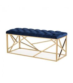 Tov Furniture Skylar Navy Blue Long Bench Tov Home Decor Furniture Ottomans And Benches Home Decor Furniture, Furniture Deals, Modern Furniture, Blue Furniture, Furniture Outlet, Online Furniture, Upholstered Bench, Ottoman Bench, Gold Bench