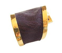 ON SALE asymmetrical purple leather gold plated by evasugar, $175.50