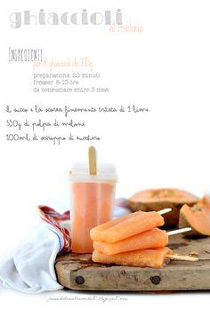 PANEDOLCEALCIOCCOLATO: Ghiaccioli al melone naturali e homemade