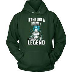 Super Saiyan - Vegeta God I Came Like A King Left Like A Legend - Unisex Hoodie T Shirt - TL01272HO