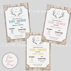 Oh Deer Baby Shower Invitation Boy Girl or Gender Neutral by @RosePaperPress on Etsy