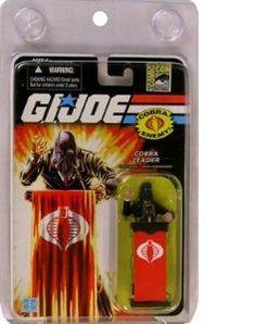 Amazon.com: G.I. Joe SDCC Exclusive Cobra Commander (Black Suit) Action Figure: Toys & Games