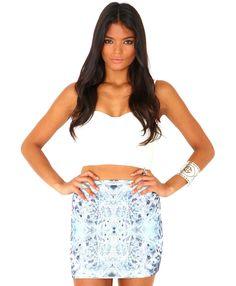 Luna Kaleidoscope Print Mini Skirt
