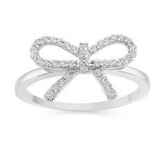 Diamond Bow Ring  £409 Vashi.com