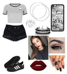 """""""Sem título #236"""" by lariiparker on Polyvore featuring moda, WithChic, Levi's, David Yurman, Lime Crime, adidas e Disney"""