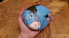 Eeyore Painted Rock - SMALL. ◅
