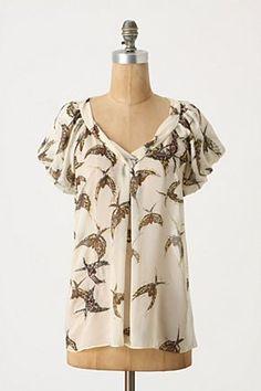 bird blouse $128 anthro