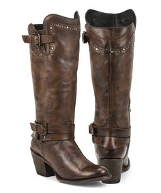 Brown Mizar Leather Boots