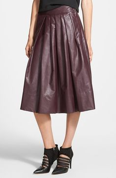 Free shipping and returns on Leith 'Town' Pleated Skirt at Nordstrom.com. Faux-leather composition takes a pleated midi skirt for a trend-right turn.