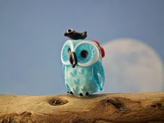 Feathered friends lampwork bead sra by DeniseAnnette on Etsy, $20.00