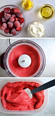 Easy Snacks You Can Make In Minutes - 5-Minute Healthy Strawberry Frozen Yogurt - Quick Recipes and Tricks for Making After Workout and After School Snack - Fast Ideas for Instant Small Meals and Treats - No Bake, Microwave and Simple Prep Makes Snacking Fun http://diyjoy.com/easy-snacks- recipes