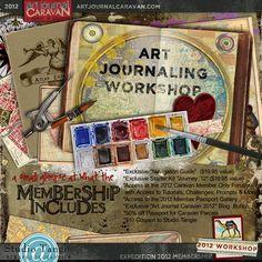 Scrapbookgraphics.com :: Altered Art & Collage :: Art Journaling Supplies :: Art Journal Caravan™ {Expedition 2012}