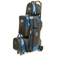 Linds Pro Line 3-4-5 Deluxe Roller Bowling Bag- Black/Blue by Linds Bowling Balls & Bags. $184.95. Sometimes you need to carry 3 balls, sometimes 4 and sometimes 5. With the Linds Pro Line 3-4-5 Deluxe Roller Black/Blue, the same bag will cover all options. It's your choice! 3, 4, or 5 bowling ball bag with wheels Durable 1680 denier construction. Locking handle retracts flush to base. Extra roomy pockets. Shoe compartment stores up to size 15 Removable exterior ball comp...