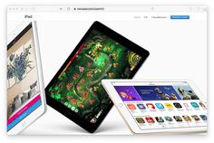 Apple used game screenshot to promote new iPads on its website