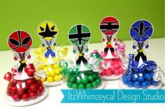 Samurai Kids Inspired Candy Favor Containers by itzwhimzeycal, $18.50 Centerpieces???
